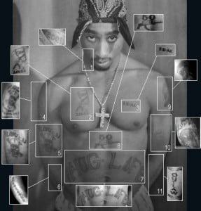 tupac tattoo front