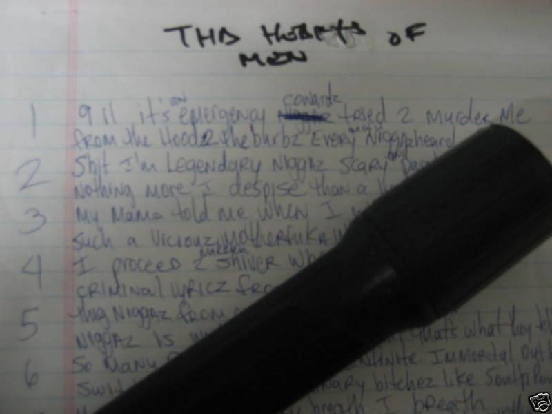 Heartz Of Men (Verse 1) -Tupac's Handwritten Lyrics