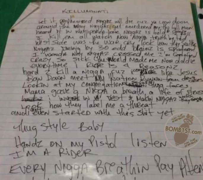 Killuminati - Tupac's Handwritten Lyrics