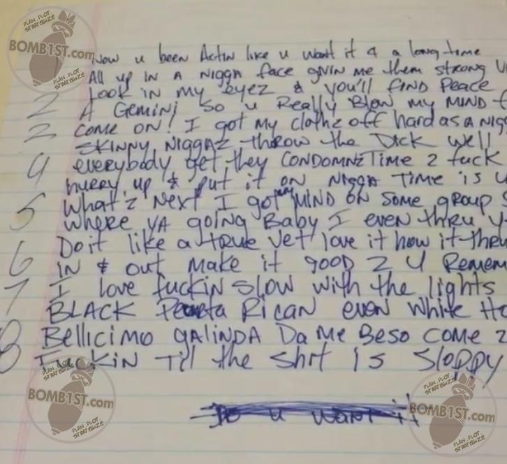 Let Em Have It Tupac's Handwritten Lyrics