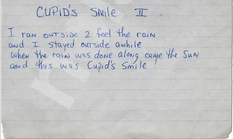 Cupid's Smile 2 - Tupac's Handwritten Poem