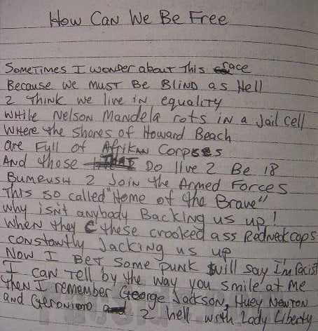 How Can We Be Free - Tupac's Handwritten Poem