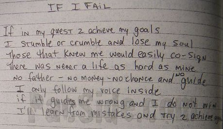 If I Fail - Tupac's Handwritten Poem
