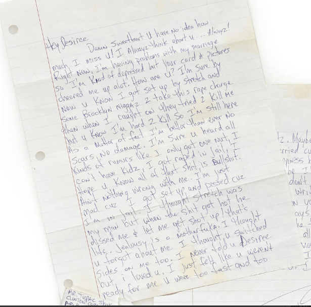 Letter To Desiree Smith (July 05, 1995) - 2 - Tupac's Handwritten Letter