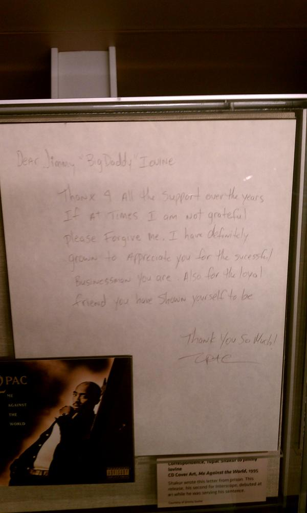 Letter To Jimmy Iovine- Tupac's Handwritten Letter