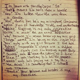 Only 4 the Righteous -Tupac's Handwritten Poem