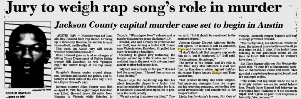Ronald Ray Howard 2pac murder