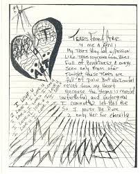 Tears from a Star - 4 me and April - Tupac's Handwritten Poem
