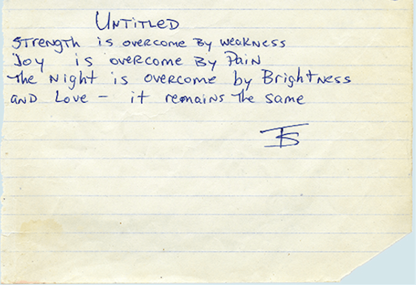 Untitled (Remains The Same) - Tupac's Handwritten Poempng