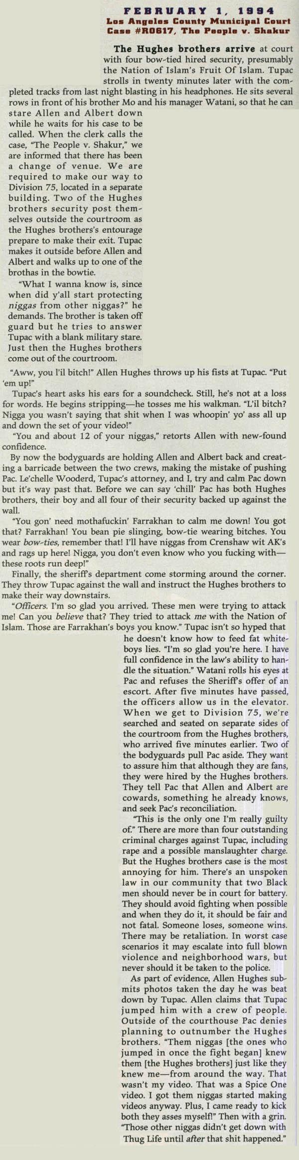 Tupac: Hellraiser (The Source, February 01, 1994)