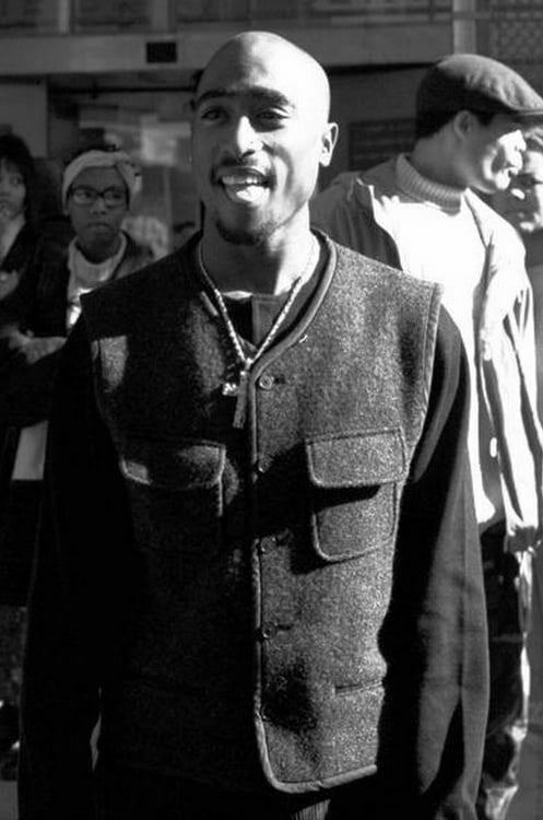 Tupac Shakur during lunch break in trial at 111 Centre. / Credit: New York Daily News Archive