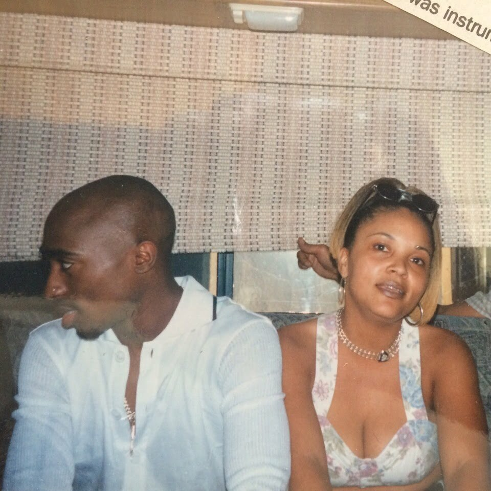 Rare Photo of 2Pac with Woman During The 2 of Amerikaz Most Wanted Video, April 08, 1996
