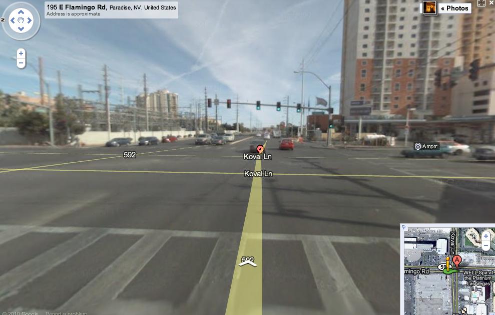 Shooting Location - Koval Lane / Flamingo Road
