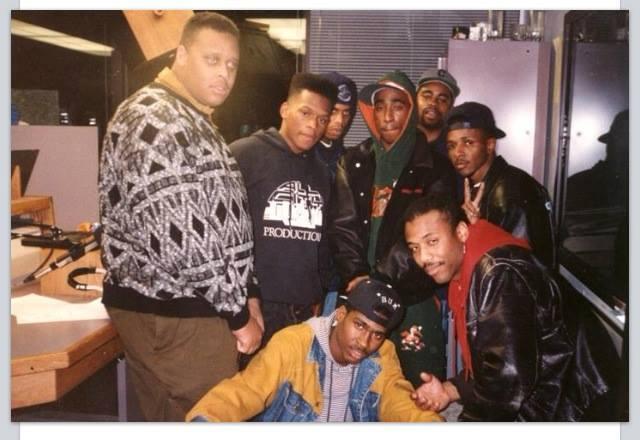 Deon Evans and 2Pac, KMEL San Francisco, 1992