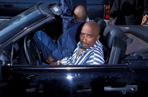 Tupac's car Mercedes 500SL