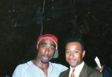"""Rare Photo Of Tupac And Michael Ayers On Set Of """"If My Homies Calls"""" image"""