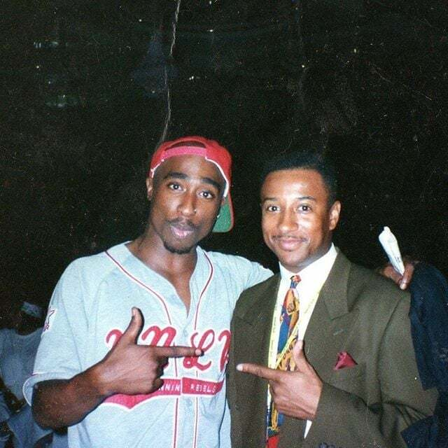 Rare Photo Of Tupac And Michael Ayers On Set Of