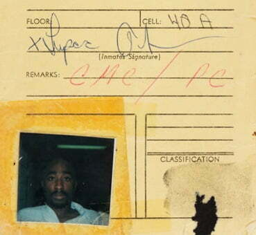 Tupac Shakur Signed Floor Locator Card With Picture and Fingerprint (1994)