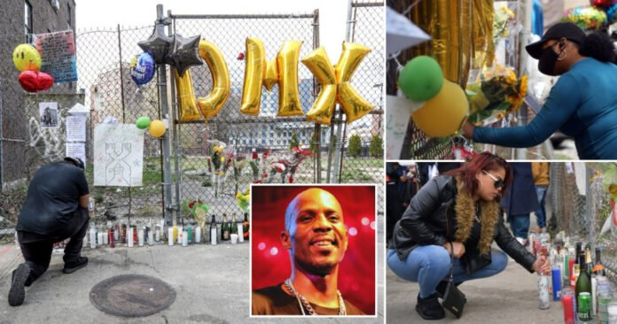 Fans Create a Massive Memorial in Honor of DMX