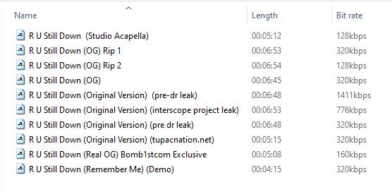 R U Still Down - 2Pac (1994)