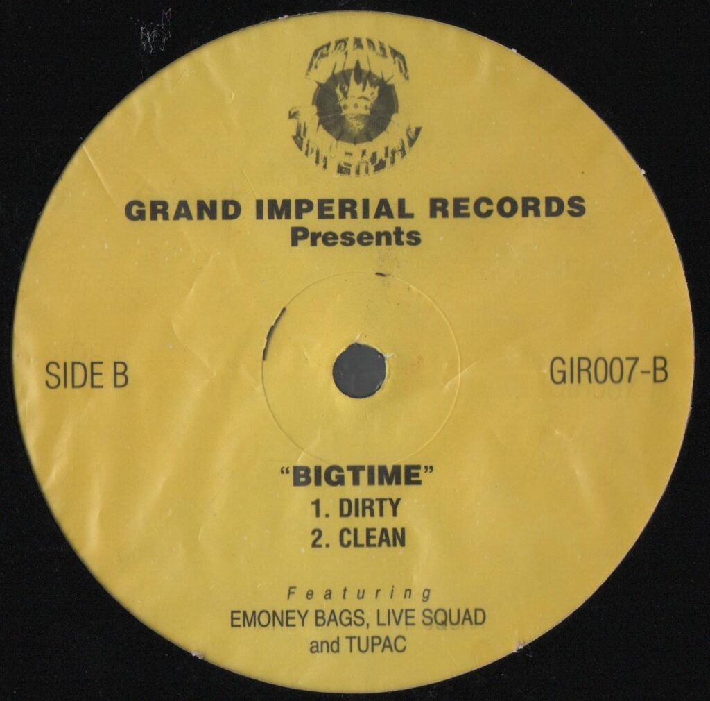 E Moneybags, Live Squad, 2Pac – Regulate / Big Time (4 Track Vinyl Single) (US) (2001) (GIR007)