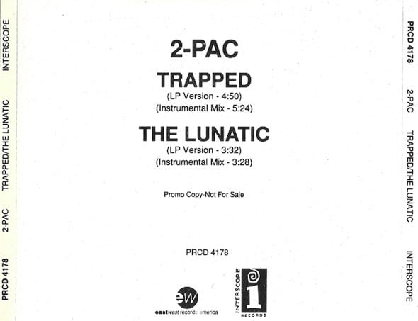 2Pac - 1991 - Trapped (CD Single Promo) (PRCD 4178) (US)