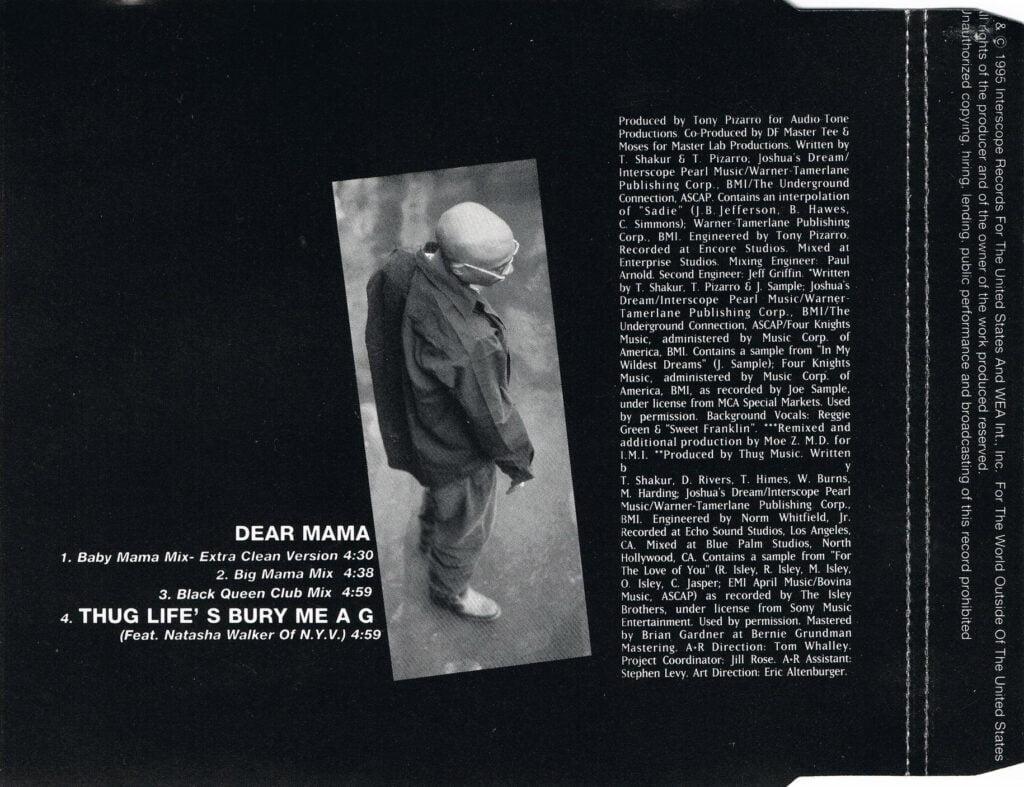 2Pac - 1995 - Dear Mama (Remix) (CDM) (6544-95762-2) (EU, DE)