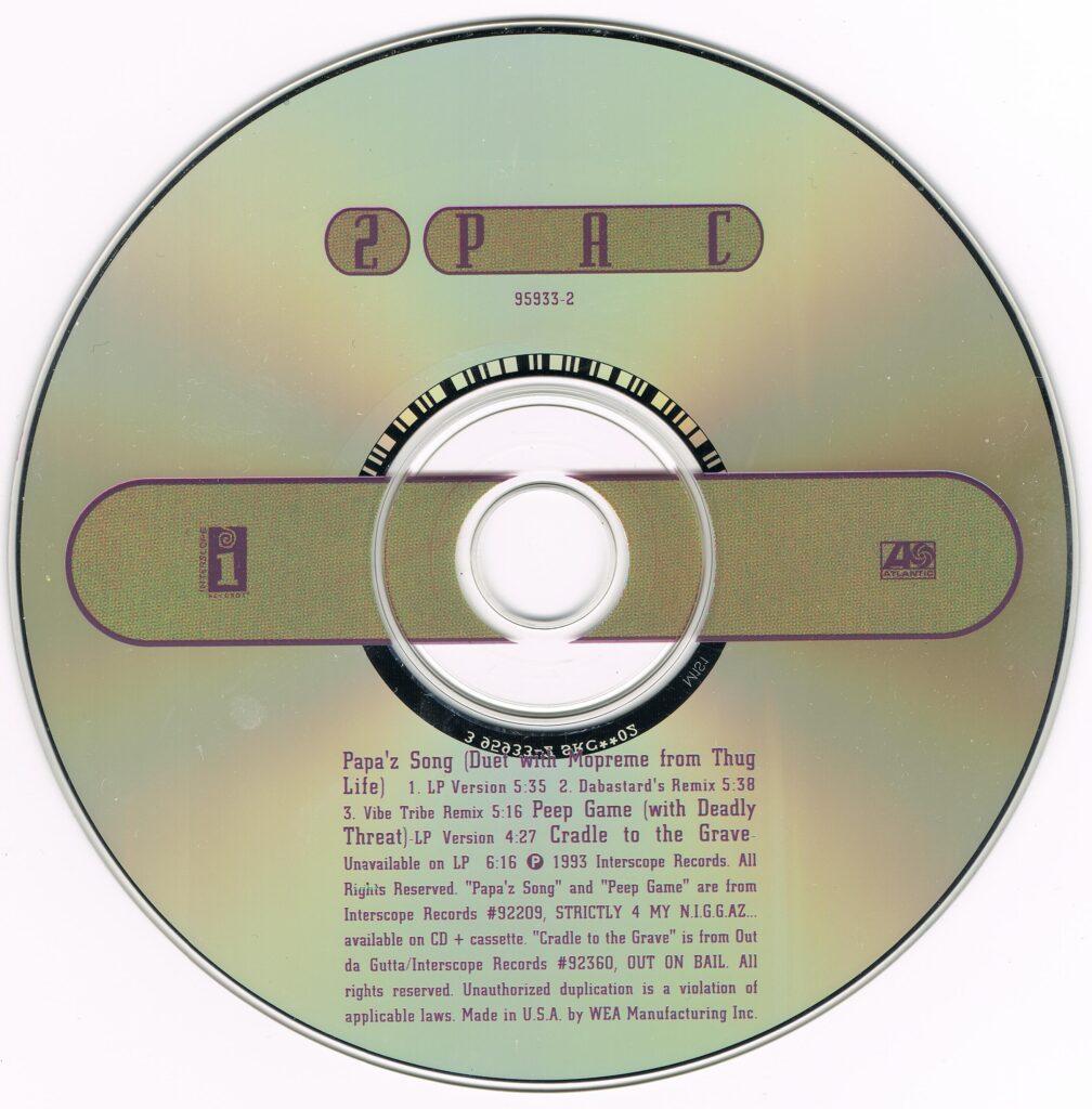 2Pac - 1993 - Papa'z Song (CDM) (95933-2) (US)