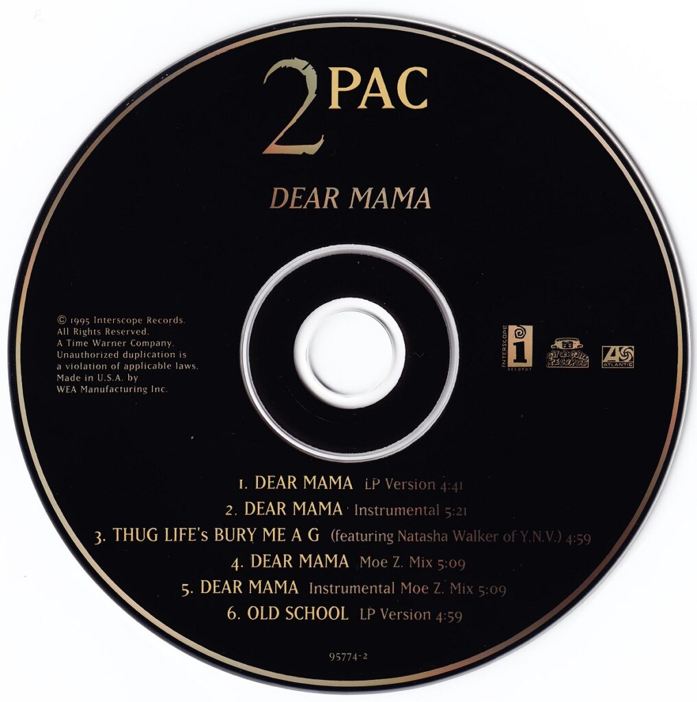 2Pac - 1995 - Dear Mama (CDM) (95774-2) (US)