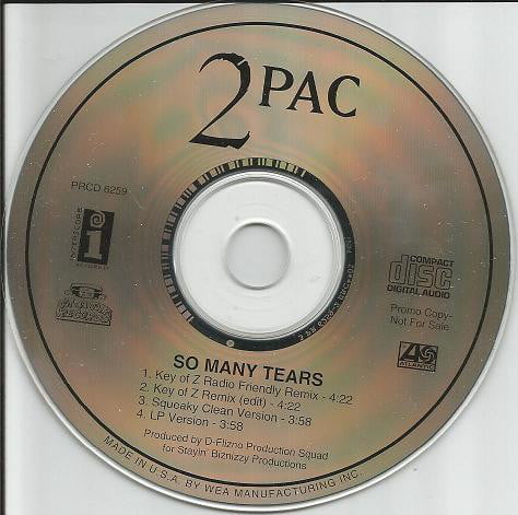 2Pac - 1995 - So Many Tears (Promo CDM) (PRCD 6259) (US)