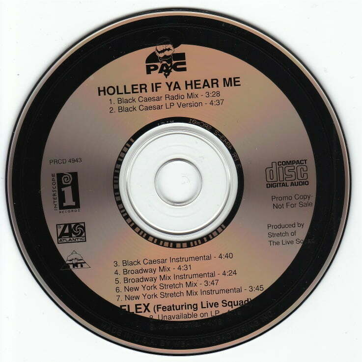 2Pac - 1993 - Holler If Ya Hear Me (Promo CDS) (PRCD 4943) (US)