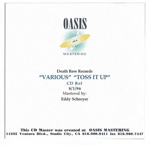 Makaveli - 1996 - Toss It Up (Remix) (CD Reference, Oasis Mastering) (Promo CD Single) (US)