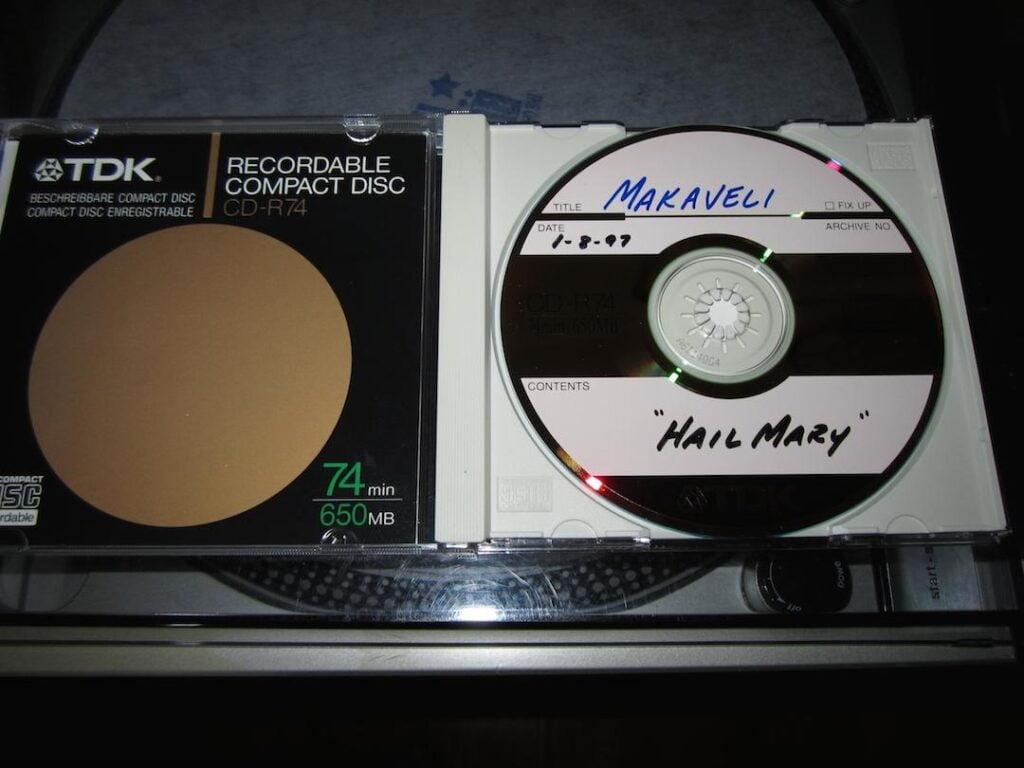 Makaveli - 1997 - Hail Mary (Reference CD, Brooklyn Studio) (CD-R CD Single) (01-08-1997) (US)