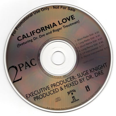2Pac - 1995 - California Love (US Promo CD Single) (DRPD 00001) (WAV)