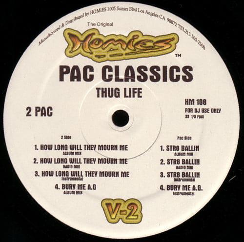 Thug Life - 2008 - Pac Classics (VLS) (HM 108) (US)